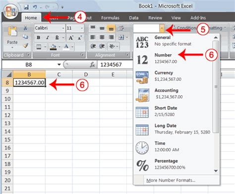 excel number formatting how to put numbers in numerical order in excel 2007