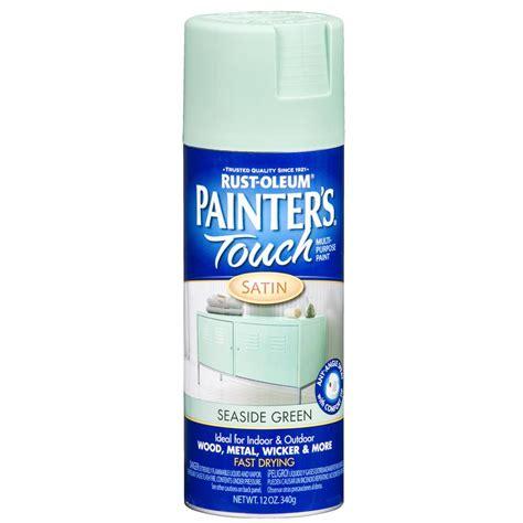 spray painter lowes shop rust oleum 12 oz seaside green satin spray paint at