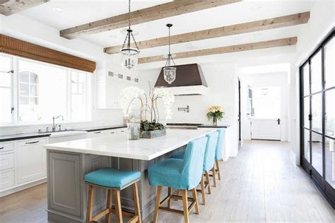 kitchen island counter stools gray kitchen island with turquoise blue counter stools transitional kitchen