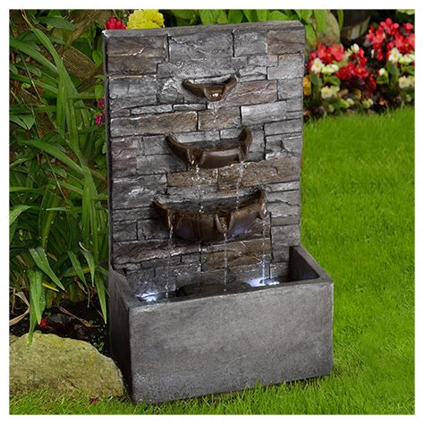 fuentes decorativas jardin fuente decorativa cascada en http www homedepot mx