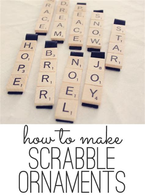 is re a scrabble word scrabble ornaments easy craft tutorial