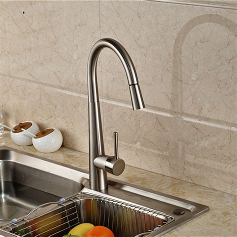kitchen sink finishes amoskeag brushed nickel finish kitchen sink faucet with