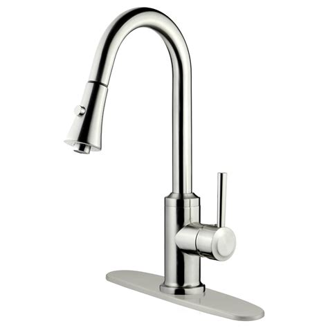 pull kitchen faucets reviews lesscare single handle pull kitchen faucet reviews wayfair
