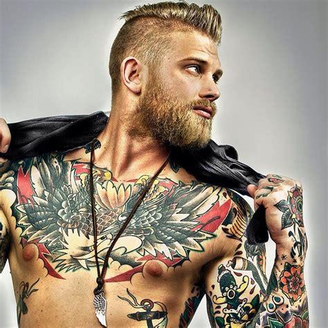 40 chest tattoo design ideas for men bearded men hair