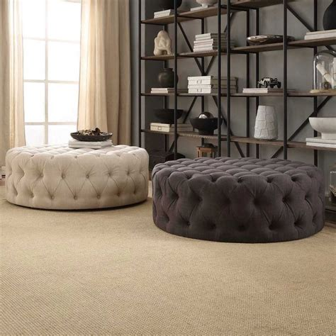 Living Room With Two Ottomans