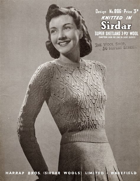 1940 knitting patterns free 1940 s style for you bluebells in jumper free