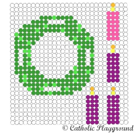 perler patterns printables use this free printable template to make your own advent
