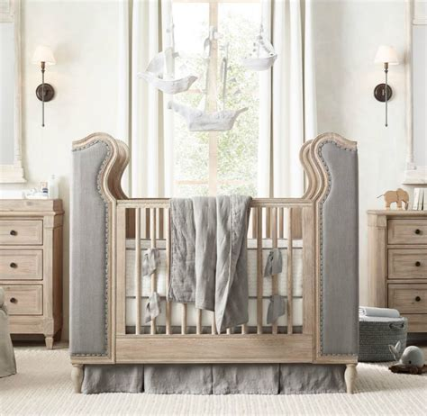 tufted baby crib tufted crib from rh baby child decoist