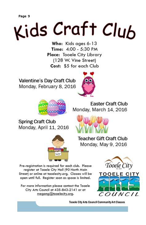 craft club for craft club s day 2016 tooele city