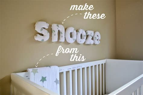 how to make easy diy fabric letters for your nursery