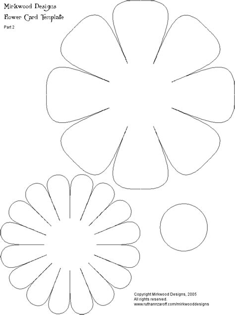 flower paper craft template how to make a 3 dimensional flower click here for part 2