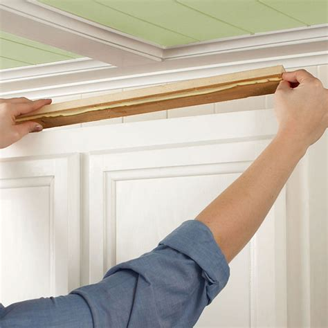 attaching crown moulding kitchen cabinets install kitchen cabinet crown moulding