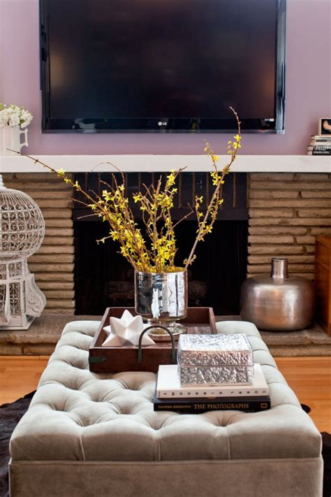 decorate with contemporary design ottoman coffee table scape just