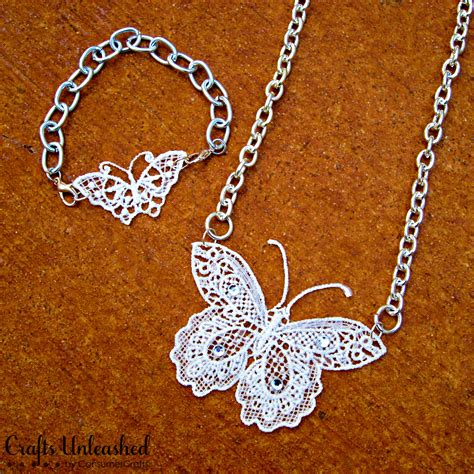 make own jewelry make your own lace butterfly jewelry
