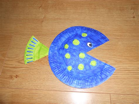 paper plate fish craft paper plate fish diy craft