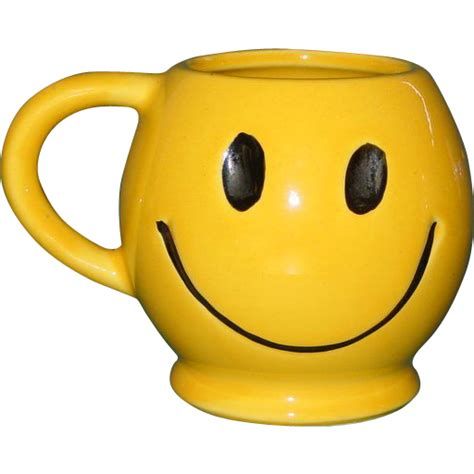 Vintage McCoy Smiley Face Coffee Mug Tea Cup USA 1970's Dark Smile from bestantiques on Ruby Lane