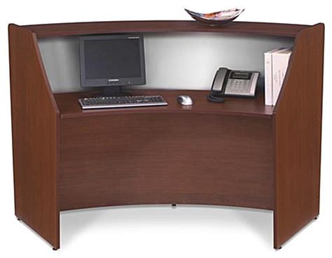 wooden reception desk wooden reception desk cherry single curved unit