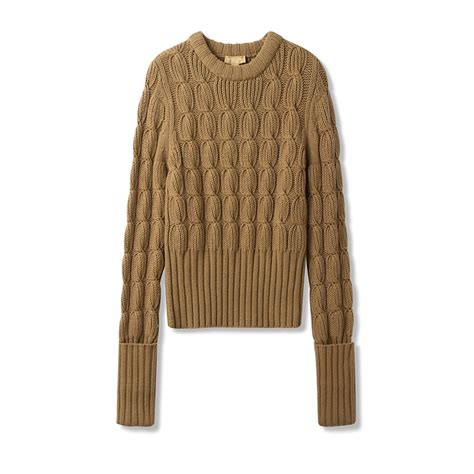cable knit wool sweater 30 michael kors collection cable knit merino