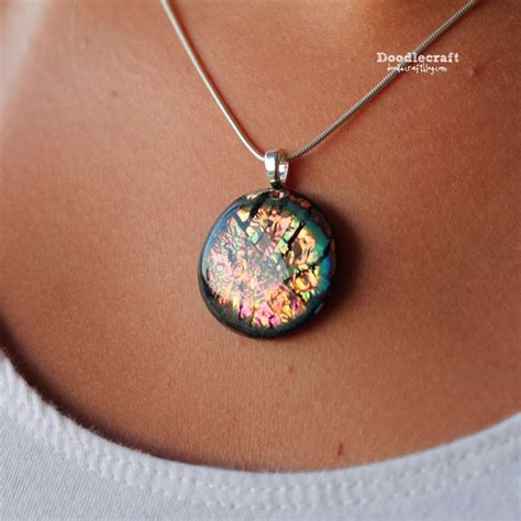 glass pendants for jewelry doodlecraft dichroic glass pendants