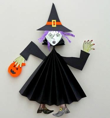 pagan craft projects that artist paper fold witch