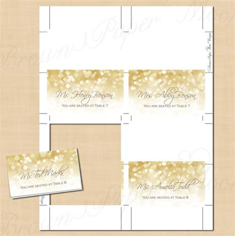how to make tent cards in word white gold sparkles place card tent food reception buffet