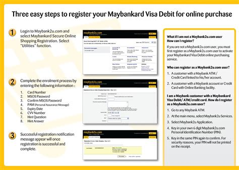 how to make payment using debit card maybankard visa debit e commerce leaflet malcolm