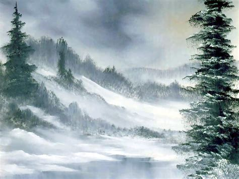 bob ross painting in acrylics bob ross landscape painting