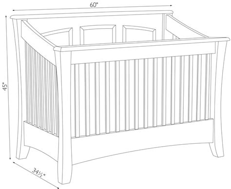 dimensions of a baby crib baby crib dimensions www pixshark images galleries
