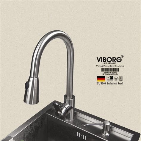 stainless steel kitchen faucet with pull spray viborg deluxe 304 stainless steel pull out spray kitchen faucet mixer tap pullout sprayer