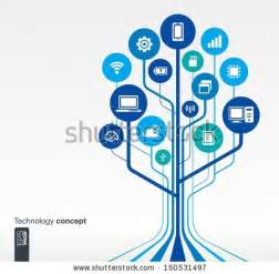 computer tree technology stock images royalty free images vectors