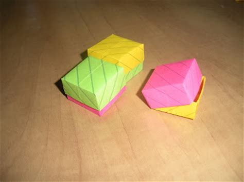 origami post it notes paper pins origami with post it notes