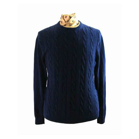 navy blue knit sweater navy blue cotton cable knit sweater l blue 17 vintage