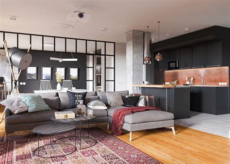 minimalist studio apartment minimalist studio apartment design applied with a gray and