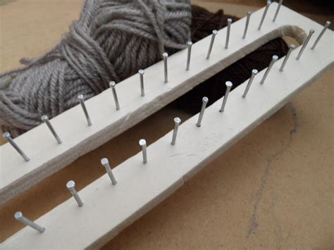 diy knitting loom rectangular loom 183 how to make a knitting loom