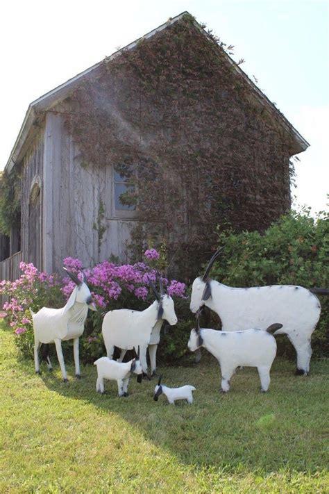 tin yard tin farm goats for yard decorations