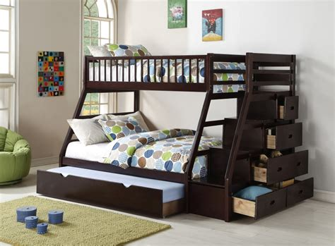 living home furnishings bunk bed hh3000 staircase bunk bed with trundle