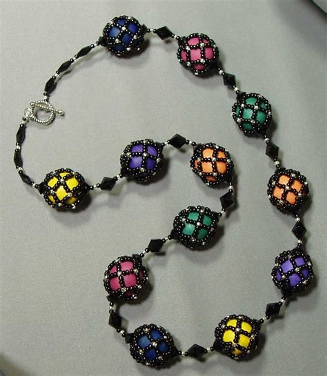 beaded jewelry tutorials netted bead jewelry inspirations