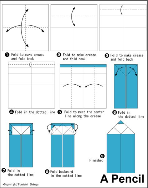 Pencil Easy Origami For