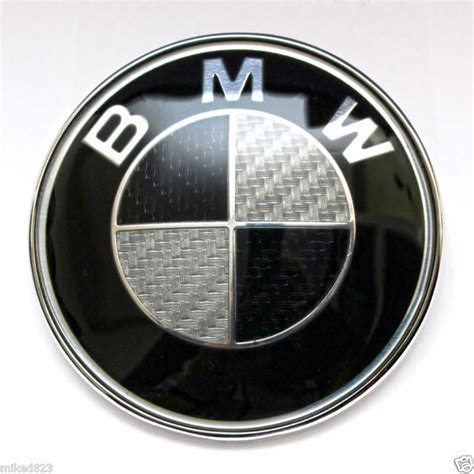 Black And White Bmw Emblem by Purchase Lot Of 10 Bmw Roundel Emblem Badge 82mm Black