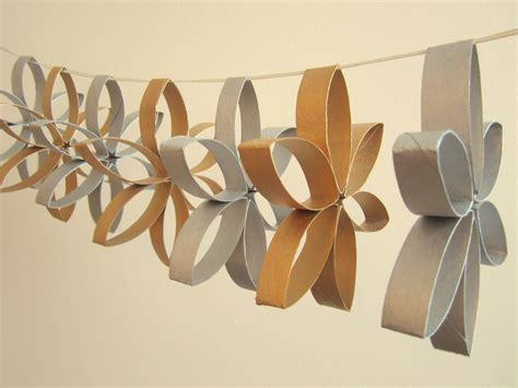 craft ideas using toilet paper rolls toilet roll garland crafty weekend craft