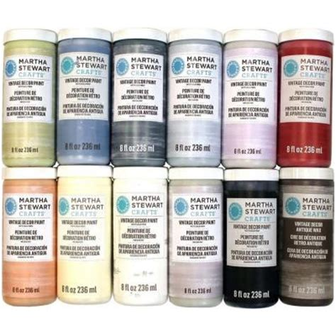 vintage paint colors home depot martha stewart crafts vintage decor 8 oz 12 color matte