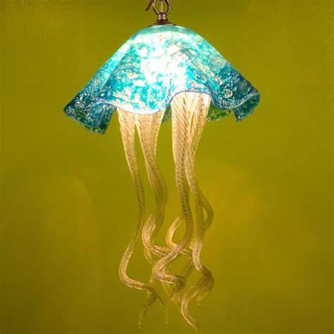 jellyfish chandelier buy a made jellyfish pendant light turquoise