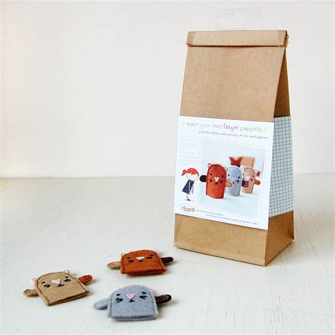 craft kit make your own kitten finger puppets craft kit by clara and