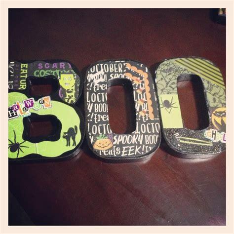 decoupage letter ideas diy decoupage boo quot letters quot