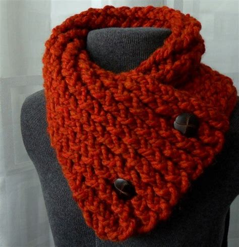 how to knit collar scarf with buttons spice scarflette winter scarf