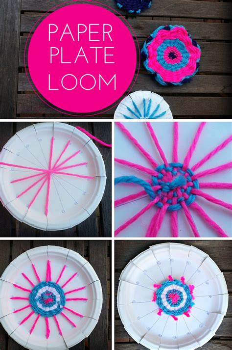 paper plate weaving craft finding bonggamom how to weave an american doll rug