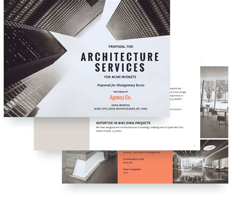 architecture proposal template free sample