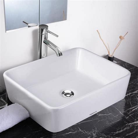 kitchen sink faucet combo aquaterior bathroom porcelain ceramic vessel sink bowl w chrome faucet combo ebay