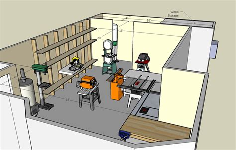 woodworking shop plans free woodshop floor plans 187 plansdownload