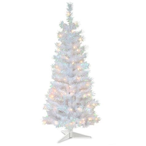 4 ft white tree national tree company 4 ft white iridescent tinsel
